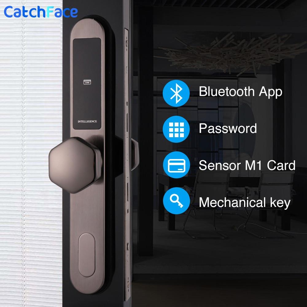 Electronic Digtial Lock, WIFI APP Keyless Digital Safe Lock Door Smart Card Keypad Password Pin Code Door Lock With 7 Different