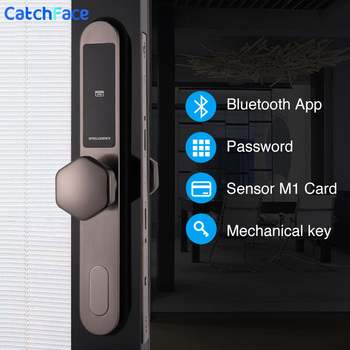Electronic Digtial Lock, WIFI APP Keyless digital Safe Lock Door Smart Card Keypad Password Pin Code Door Lock with 7 Different bluetooth electronic door lock with app wifi smart touch screen lock digital safe code keypad deadbolt for home hotel apartment