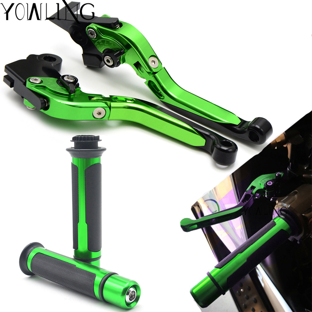 Motorcycle Adjustable Folding Brake Clutch Levers Handlebar Hand Grips For kawasaki Z750S not Z750 model 2006 2007 2008 in Levers Ropes Cables from Automobiles Motorcycles