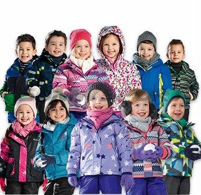 Enfants veste extérieure épaisse chaude ski costume bébé à capuche imperméable manteau ski costume épaississement chaleur, nouvelle remise
