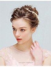 Leliin Vintage Wedding Bridal Bride Bridesmaid Pearls Cluster Crystal  Flexible Hair Vine Headpiece Hair Accessories