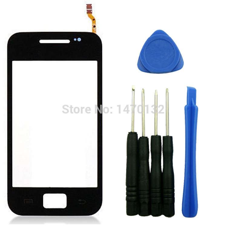 Black Part Touch Screen Digitizer Glass Lens For Samsung Galaxy Ace S5830 GT-S5830 + Tools