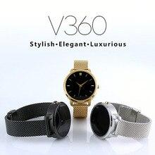 V360 smart watchสำหรับapple iphone huawei android ios s mart w atchที่มีฟังก์ชั่นsiriปรับปรุงdm360สนับสนุนดัตช์ภาษาฮิบรู