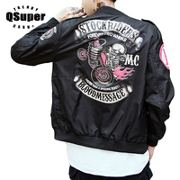 Stockriders Skull Motorcycle Luxury Brand Bomber Jackets Men Baseball Bloodmessage Jackets Men Pilot MA 1 Jackets