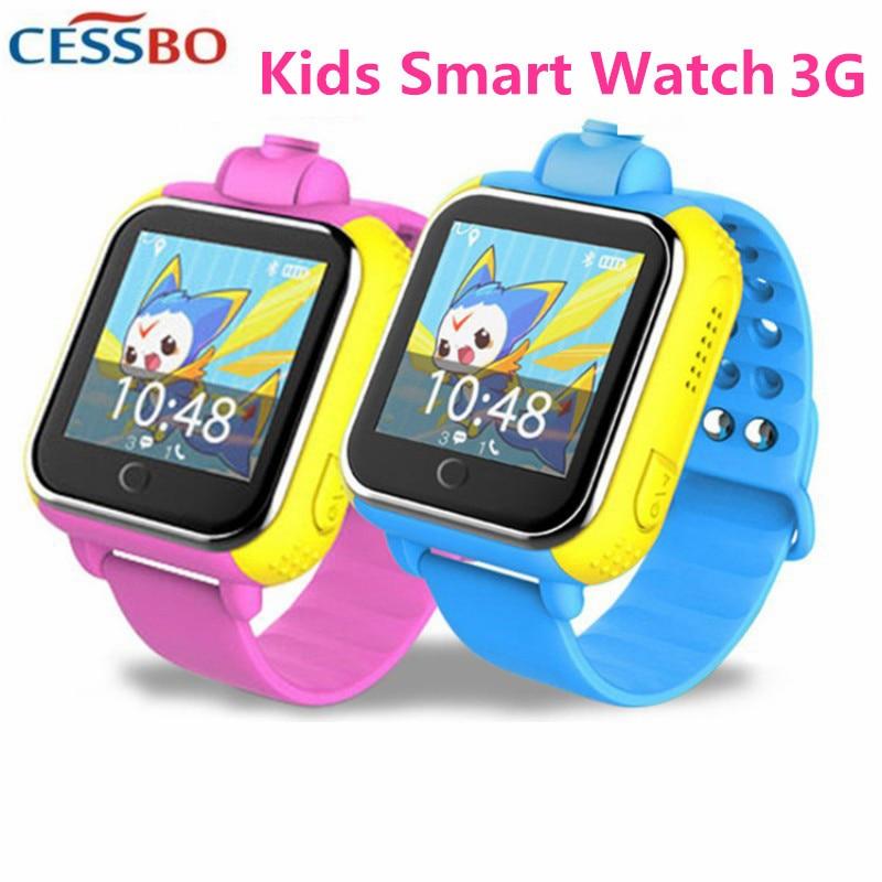 3G téléphone appel GPS Tracker montre intelligente enfants 3G en caoutchouc bande intelligente montre Anti perdu GPS suivi Finder numérique montre intelligente caméra