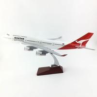 Боинг 747 400 QANTAS 1:150 B747 45 47 см модель самолета из сплава Коллекция игрушки модели подарочные бесплатную Экспресс EMS/DHL/доставки