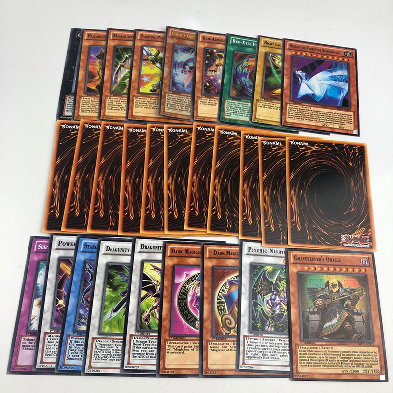 288pcs Yu Gi Oh Rare Proxy Cards Exodia Magician Girl Egyptian God Obelisk Dragon Numbers English Classic TCG Duel Card Yu-Gi-Oh
