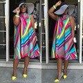 Новый Женский Леди Лето Рукавов Мода Элегантный Шик Стильный Vogue Топ Блузка Футболка Платье A-Line