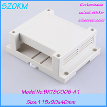7 pcs/lot free shipping plastic electrical din rail box project box din rail electronics  115x90x40mm