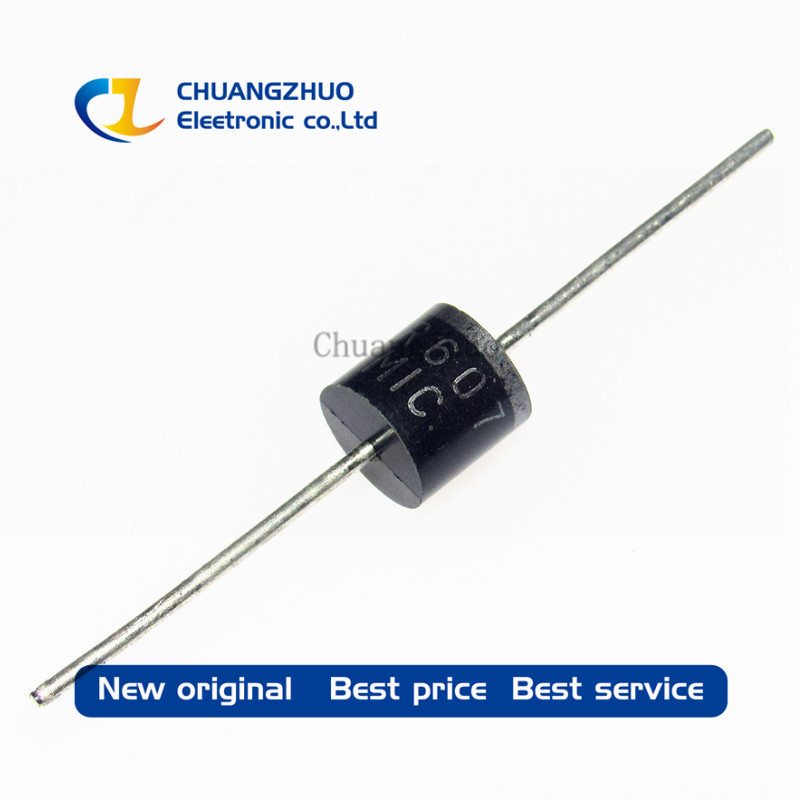 Free Shipping High Quatity! 20pcs FR607 6A 1000V Fast Recovery Diodes