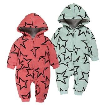 ทารกRompersรูปแบบรูปดาวห้าแฉกยาวแขนทารกแรกเกิดเหมาะสมกับฤดูใบไม้ร่วง/ฤดูหนาวเสื้อผ้าเด็กชุด...