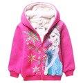 Venta caliente Niñas ropa chaqueta niño prendas de vestir exteriores abrigos Con Capucha de la historieta cabritos de la ropa abrigos de invierno de los niños Sudaderas niños