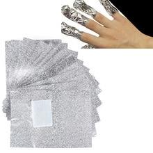 100 Pcs Aluminium Foil Nail Art Soak Off Acrylic Gel Nail Polish Nail s Remover
