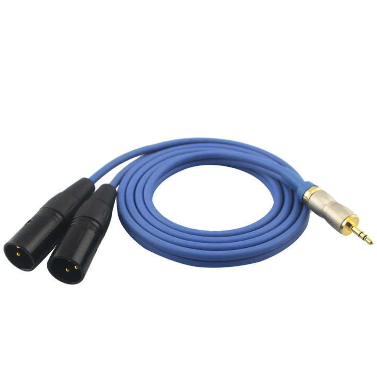 Высокий Премиум TRS mini Jack 3.5 мм 2 XLR 3pin Мужской Микрофон Динамик аудио кабель для смеситель ПК микрофон разветвитель для наушников