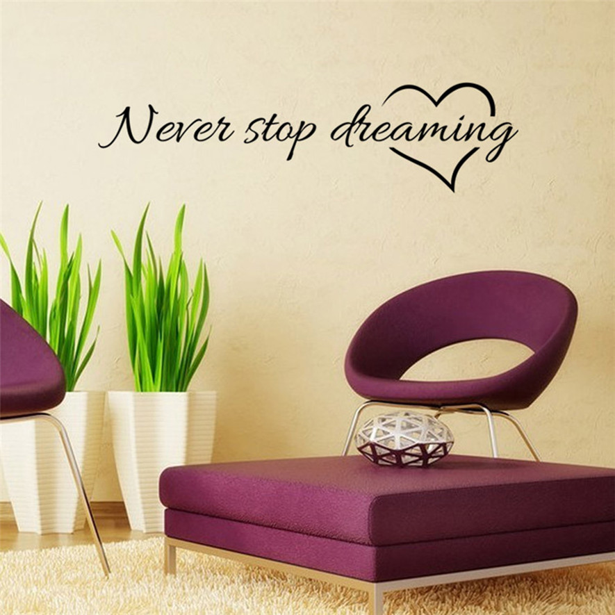 2018 Creative Wall Stickers 1pc Latest Art Text Wallpaper Mobile Vinyl Fresco Home Decoration 15 In From Garden On