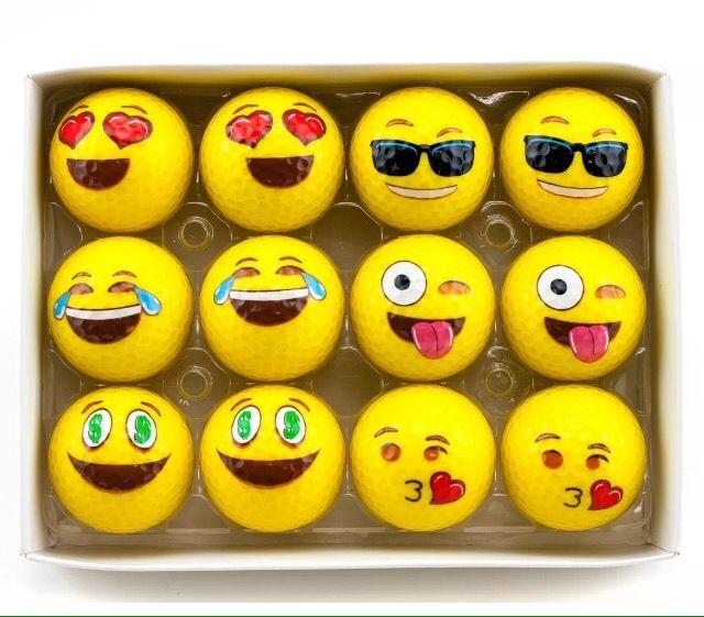 Emoji Caras Oficial de La Diversión de La Novedad de dos Capas Pelota de Golf Ga