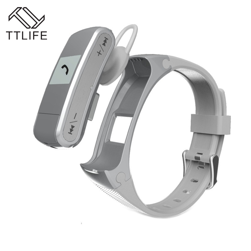 1 Pieces TTLIFE Brand Music Sport Smart Watch Portable Smart Bracelets Pedometer Fitness Heart Rate Monitor Nice Smart Wristband