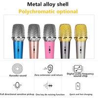 DOITOP мини из металла микрофон проводной конденсаторный Магия Караоке Microfono для мобильного телефона записи музыки Mikrofon для ПК компьютер
