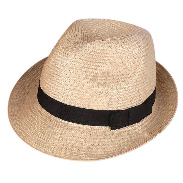 Unisex Fashion Summer Beach Panama Sun Hat Cuban Style Cap cream color e760a3179c6