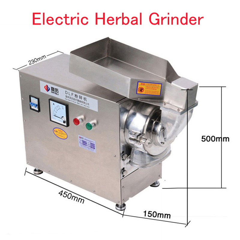 Electric Herbal Grinder Continuous Grain Mill Machine Grain Grinding Machine Pulverizer Mill Machine Herbal Crusher DLF50 vibration type pneumatic sanding machine rectangle grinding machine sand vibration machine polishing machine 70x100mm