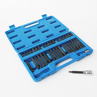 pack of 40 pieces socket bits set hex torx 12 point 1/4 inch 1/2 inch drive shank Hex 10