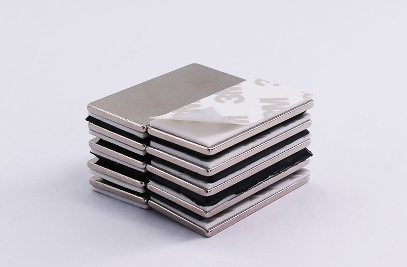 2pcs 50 16 1 6mm n35 Rare Earth strong NdFeB Neodymium permanent Magnet with 3M Double faced adhesive tape in Magnetic Materials from Home Improvement