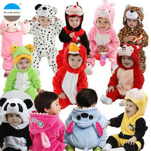 2017 Good quality baby clothing l flannel pajamas 0 to 24 months Baby climb clothes during the winter and autumn season(China)