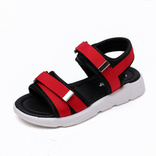 AFDSWG boys summer sandals red kids leather black beach shoes green sandal princess girls sport