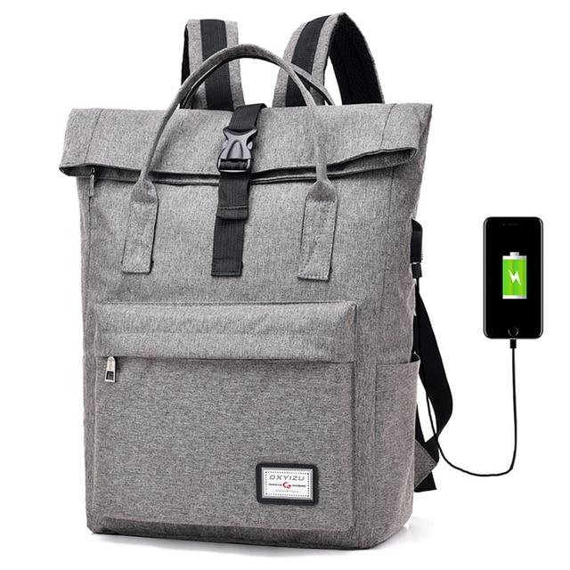 82048ef0b21 US $23.76 25% OFF Aliexpress.com : Buy Anti theft Backpack USB Charging Men  Laptop Backpacks For Teenagers Male Mochila Travel Backpack School Bag ...