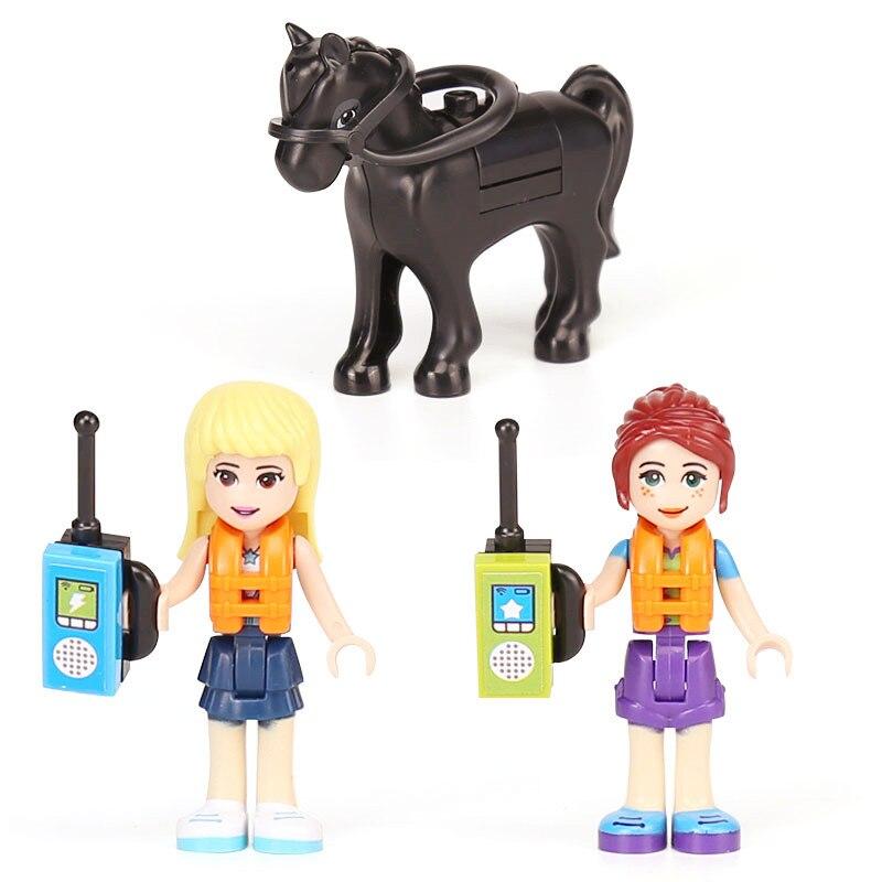 546pcs playmobil Friends Camper Series The Camper Van Set Motorhome Model Building Blocks Brick education Toys For Children Gift