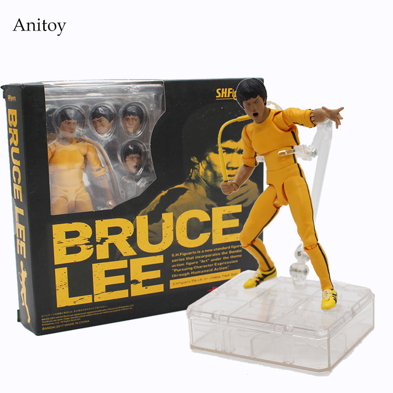 SHFiguarts SHF Figuarts Bruce Lee Variant 1/8 scale painted figure Classical PVC Figure Collectible Toy 15cm KT4055 star wars taiko yaku stormtrooper 1 8 scale painted variant stormtrooper pvc action figure collectible model toy 17cm kt3256