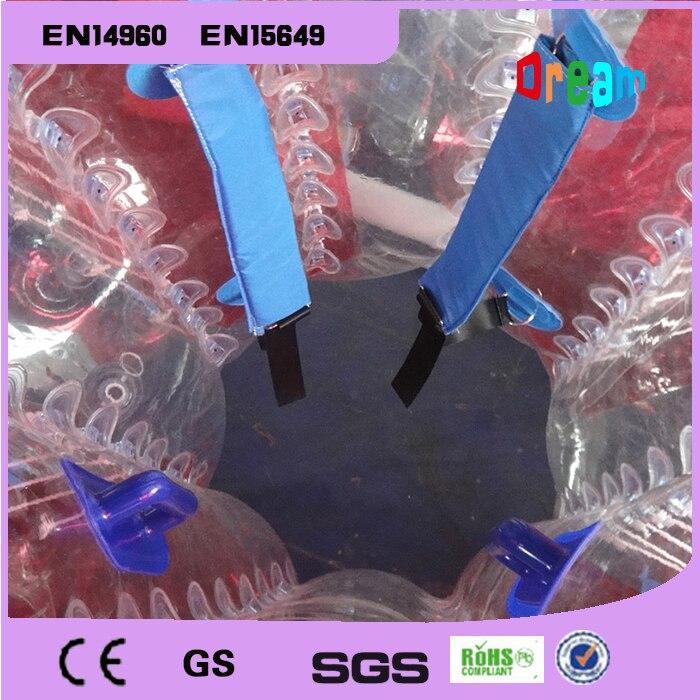 O Envio gratuito de 1.5 m de Ar Bola De Futebol Zorb Inflável Bola de Futebol Bolha Bumper Anti Estresse Bola Bolha do Futebol Bola Escombros - 6