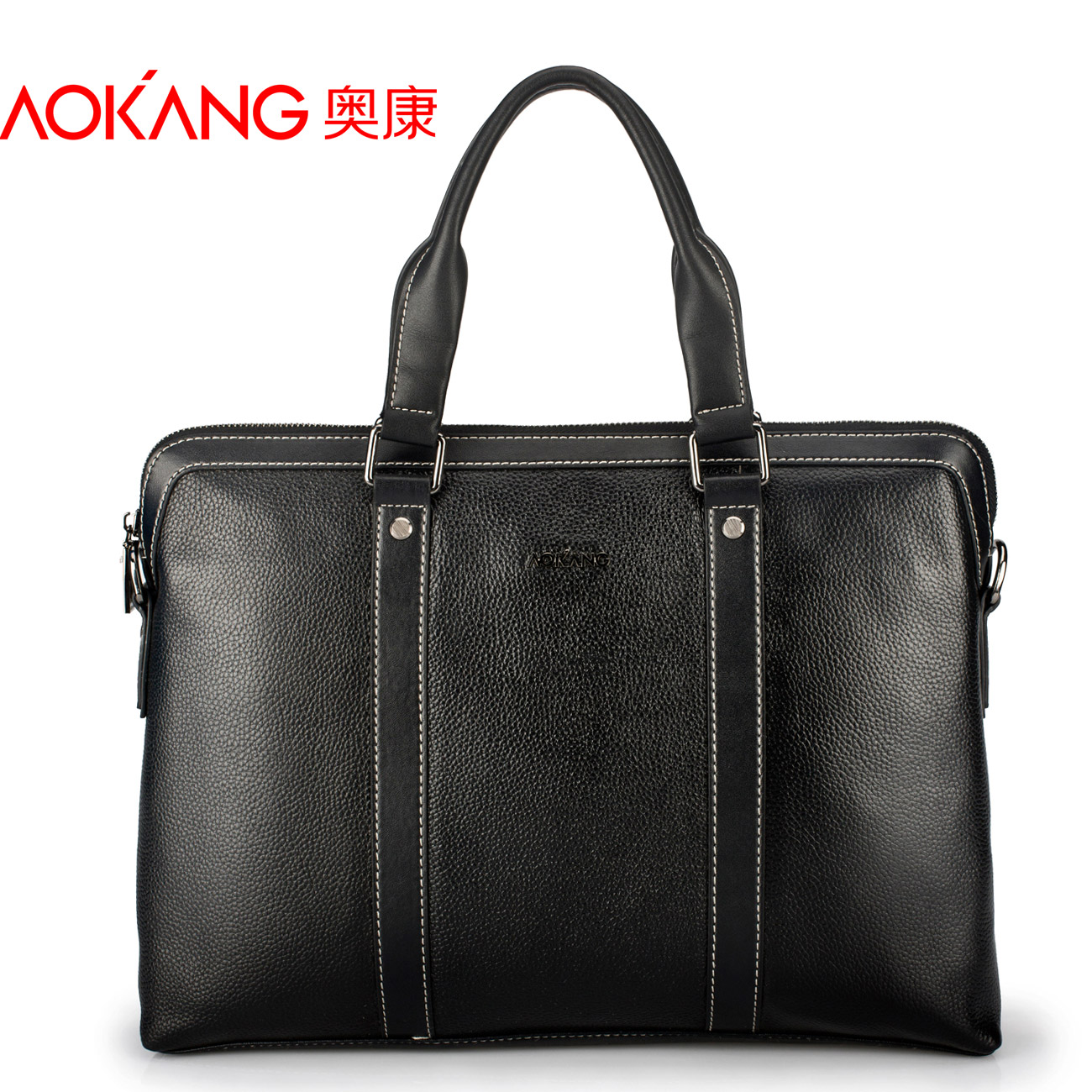Aokang leather fine man bag male casual genuine leather handbag cross-body shoulder bag first layer of cowhide briefcase bag hot selling crazy horse leather man bag vintage casual first layer of cowhide handbag one shoulder cross body computer bag 0201