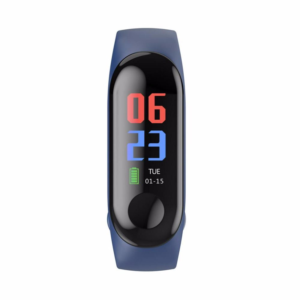 Smart Watch Bracelet M3 Color LED Sports Blood Pressure Oxygen Heart Rate Bluetooth For IOS Android Waterproof Wristband Gifts