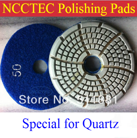 4''  Quartz Wet Polishing Pad | 100mm Soft Diamond Resin Bond Polish Pads For Removing Scratches | 2014 NEW Upgrade Products