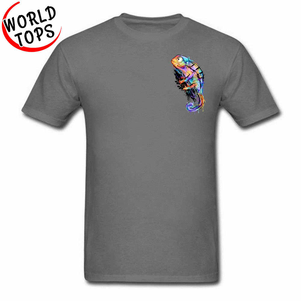 77a6ced55 ... Chameleon Lizard 3D Printed Short Sleeve Top T-shirts Men Male Pure  Cotton Tops ...