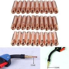 10 шт./компл. MB-15AK M6* 25 мм типа для сварки MIG/MAG сварочный фонарь Контактный наконечник газовое сопло 0,8 мм 1 мм 1,2 мм