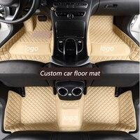 kalaisike Custom car floor mats for Volkswagen VW passat golf tiguan sharan jetta Variant UP Multivan Scirocco magot polo touran
