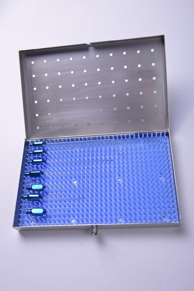 Titanium Alloy Fat Filling Graft Transplantation Cannula Set For Face Case Kit Tools