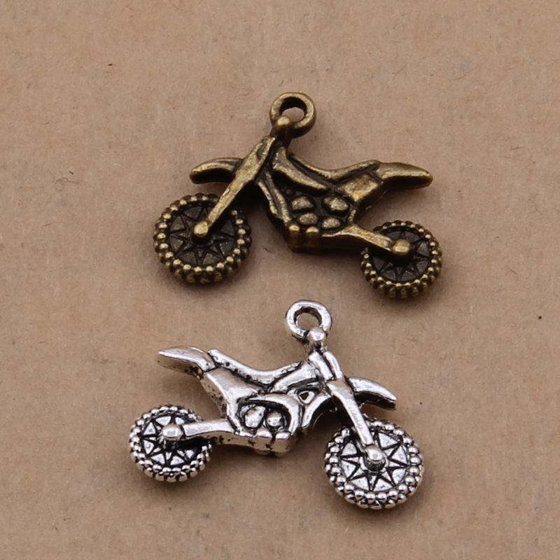 100pcs Vintage Motorcycle Charms For Manual Making Bracelets/necklace/Bags/apparel/key Chain/ DIY Jewelry Accessories