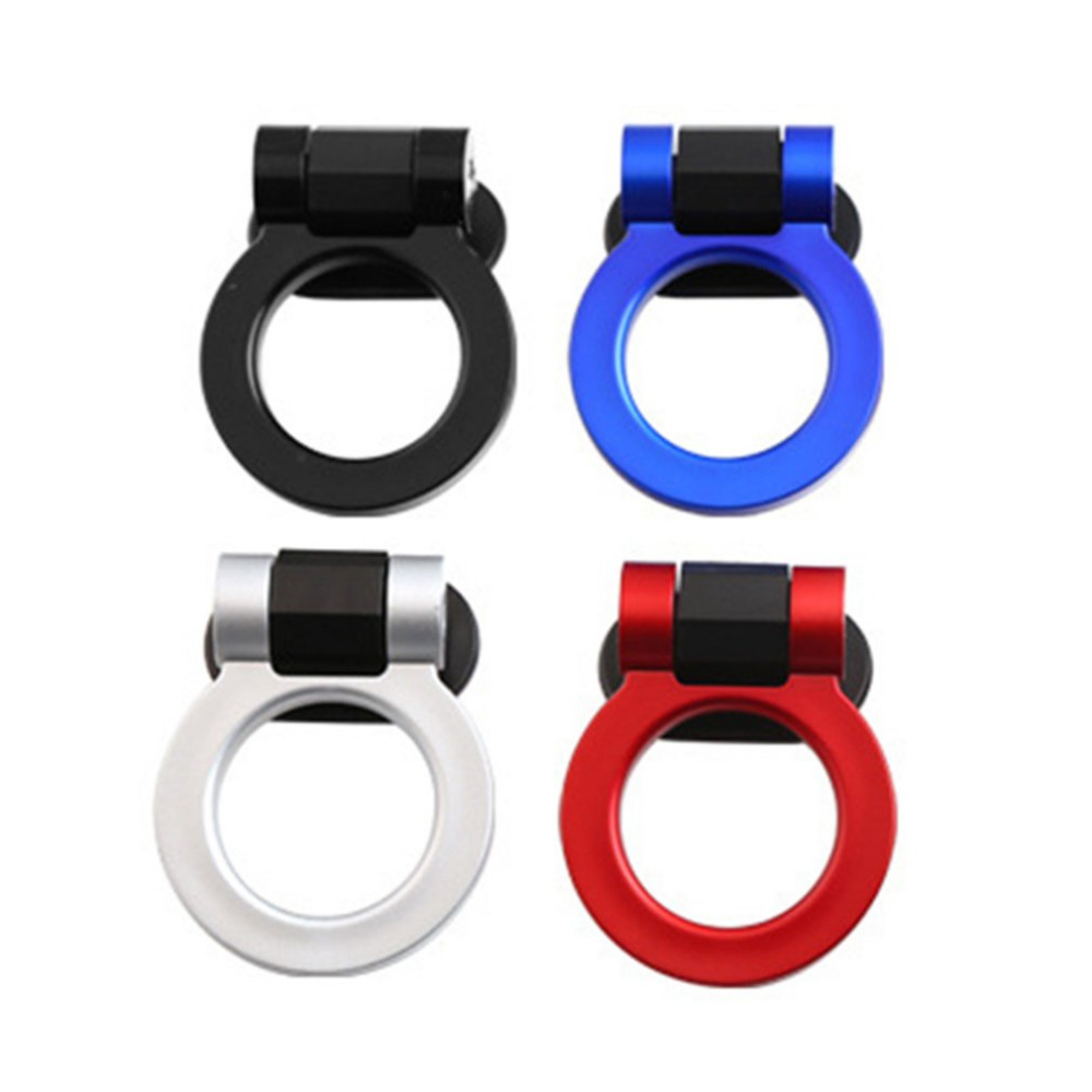 New Car Styling Trailer Hooks Sticker Decoration Car Auto Rear Front Trailer Simulation Racing Ring Vehicle Towing Hook