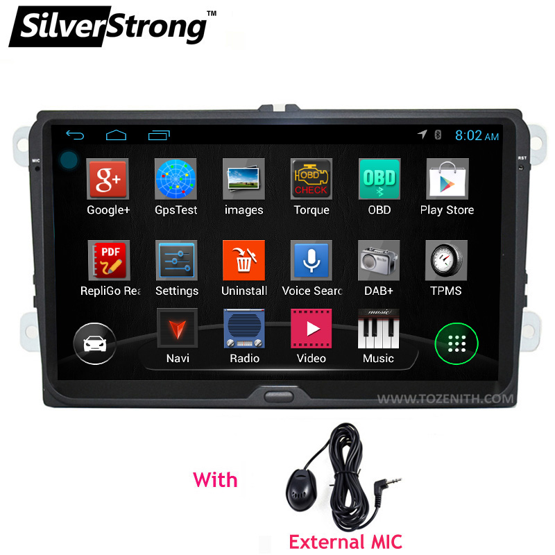 silverstrong android 9inch b6 b7 passat car radio gps for. Black Bedroom Furniture Sets. Home Design Ideas