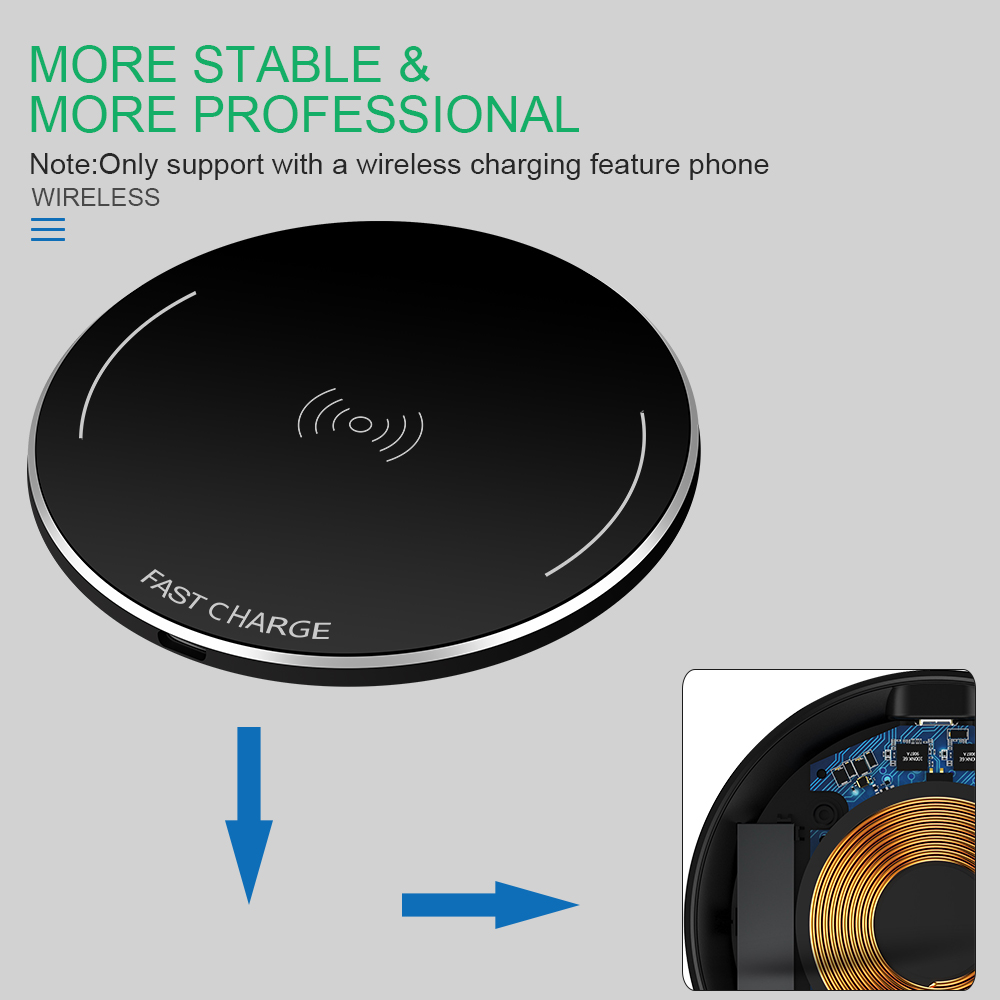 crouch wireless charger for iphone 8 x 8 plus 10w qi fast wireless charging pad wireless charger for samsung galaxy s8 s7 s8 in wireless chargers from  [ 1000 x 1000 Pixel ]