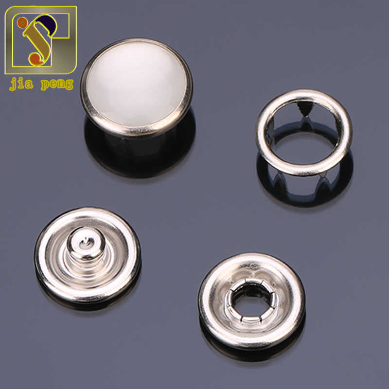 High Quality Sliver 100 Sets 9mm Prong Ring Press Studs Snap