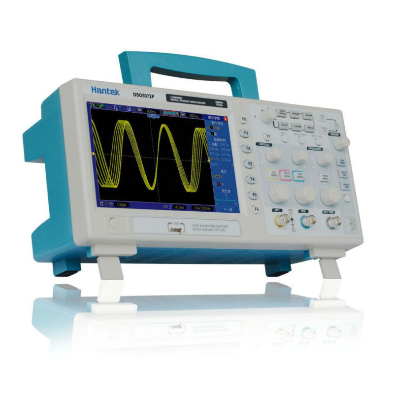 Hantek DSO5072P Digital Storage Oscilloscope 70MHz 2Channels 1GSa/s d Length 24K USB  hantek idso1070a 2ch 70mhz digital oscilloscope iphone ipad android windows oscilloscope wifi communication