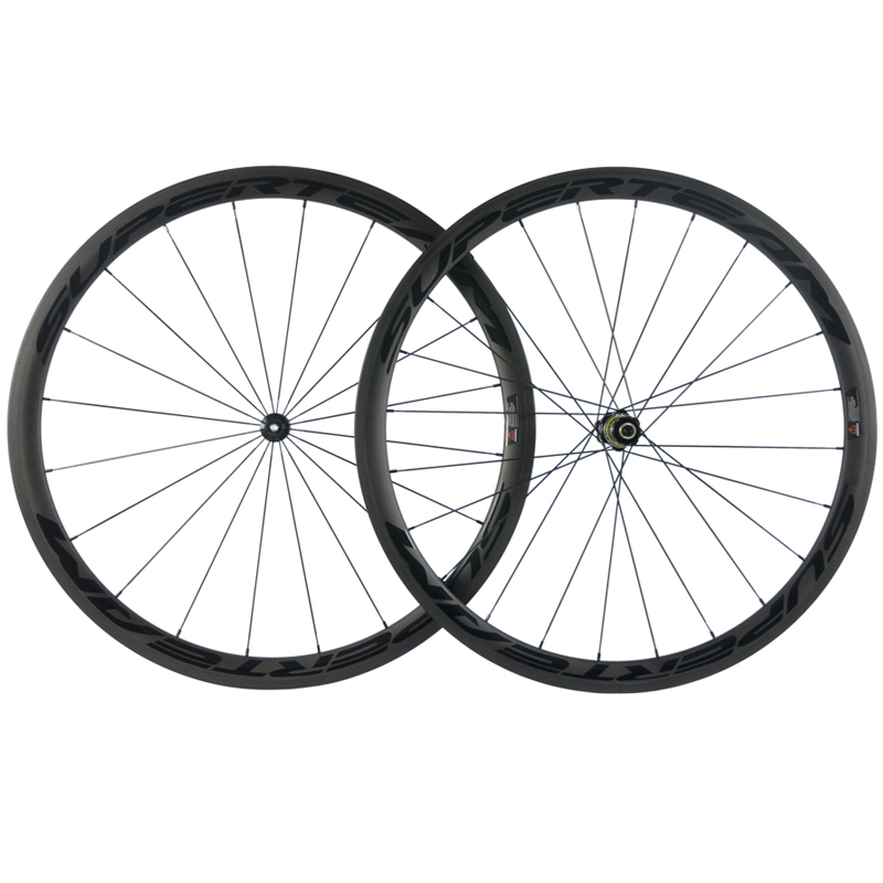 700C Carbon Wheels Superteam Road Bike Carbon Wheelset with DT swiss hub Pillar light weight Spoke Carbon Fiber Bicycle Wheels