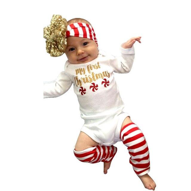 Romper Jumpsuit + Hair band + Socks best christmas gift baby girls ...