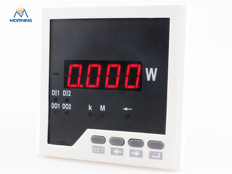 3P31 panel size 96*96mm factory price 3 phase led display ac digital active power meter d6 4o panel size 72 72 low price and high quality ac single phase led digital energy meter for industrial usage