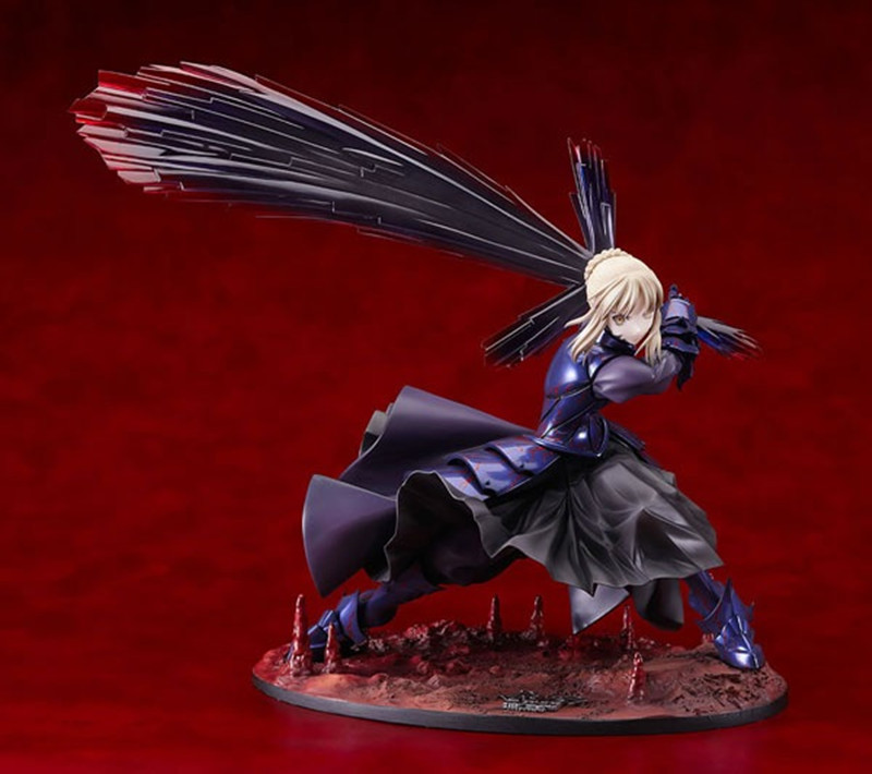 Free Shipping Japan Anime Figure 18cm/7'' Fate/stay night Black Saber Alter Boxed PVC Action Figure Toys Model Gift KC0100 alen new hot fate stay night racing girl black blue white saber throne pajamas action figure toys collection christmas gift doll