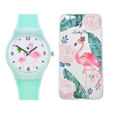 LASPERAL Reloges Feminino dibujos animados Flamingo cuarzo reloj mujeres  Casual silicona reloj analógico reloj señora reloj 36956b9f335a